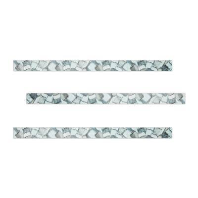 Platinum 1 in. x 18 in. Ceramic Decorative Listello Wall Tile (3-Pack)