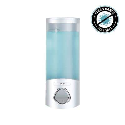 UNO Wall-Mount ABS Soap/Lotion Dispenser in Satin Silver