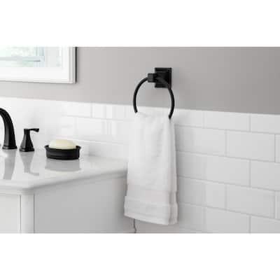 Lorent Towel Ring in Matte Black