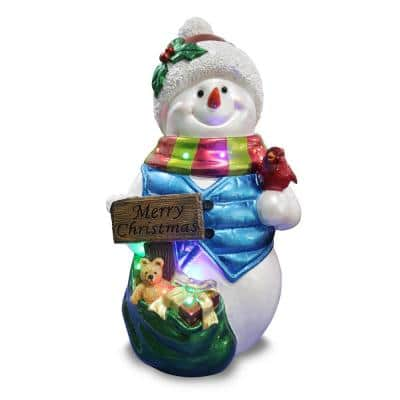 Holidynamics, 26 in. Resin Merry Christmas Snowman