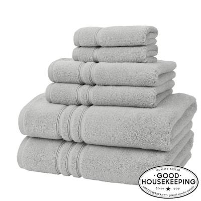 Turkish Cotton Ultra Soft 6-Piece Towel Set in Shadow Gray