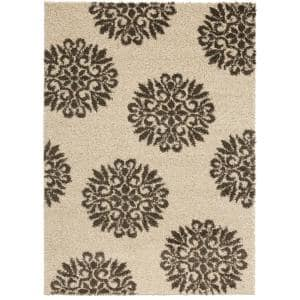 Exploded Medallions Cocoa 5 ft. x 7 ft. Indoor Area Rug