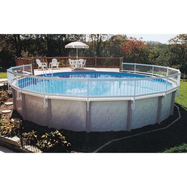 Gli Pool Products Above Ground Pool Fence Kit 8 Section Ne145 The Home Depot
