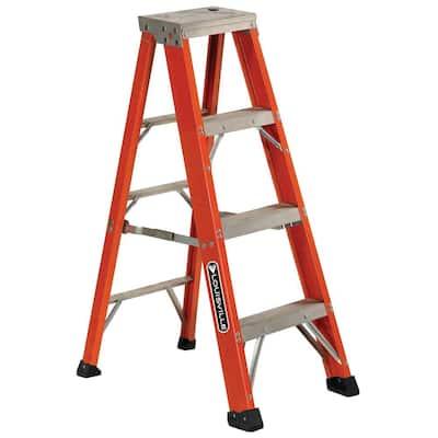 4 ft. Fiberglass Step Ladder with 375 lb. Load Capacity Type IAA Duty Rating