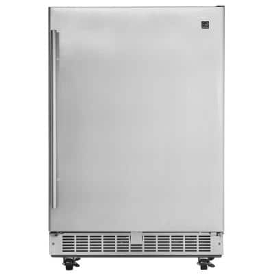 Professional 5.5 cu. ft. Outdoor Rated Mini Fridge in Stainless Steel