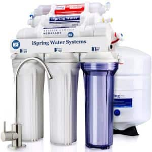 6-Stage Under Sink Reverse Osmosis Drinking Water Filter System with Alkaline Remineralization, NSF Certified