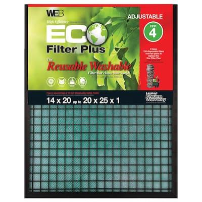 20  x 25  x 1  Eco Plus Adjustable FPR 4 Air Filter