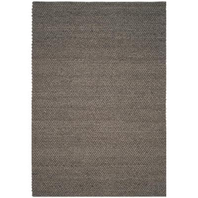 Manhattan Gray 6 ft. x 9 ft. Solid Area Rug