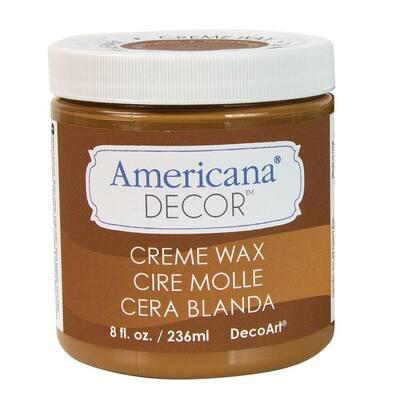Americana Decor 8 oz. Golden Brown Creme Wax