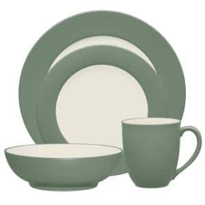 Colorwave Green Stoneware Rim 4-Piece Place Setting (Service for 1)
