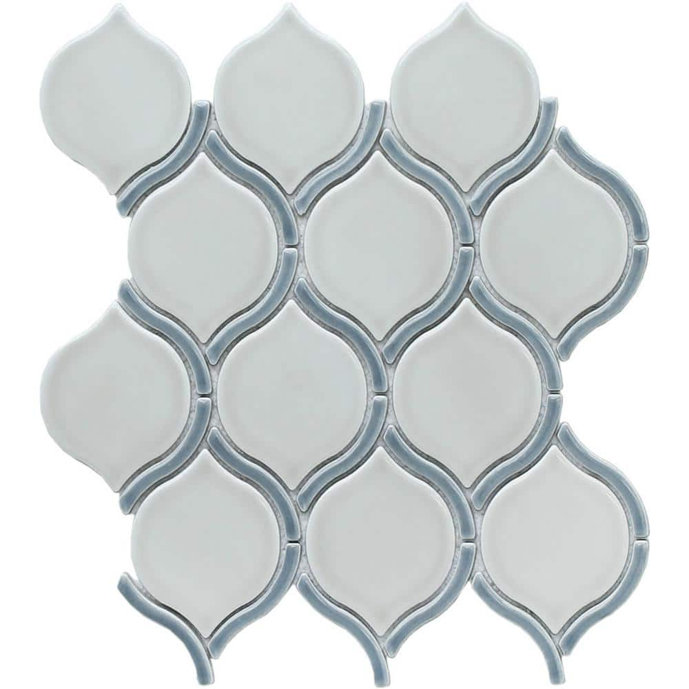 Emser Diva Athena 10 28 In X 11 5 In Arabesque Glossy Ceramic Mosaic Tile 0 82 Sq Ft Each 1919166 The Home Depot