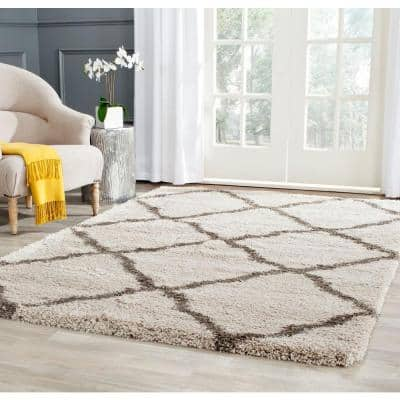 Belize Shag Taupe/Gray 8 ft. x 10 ft. Area Rug