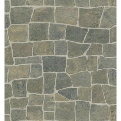 Stone Wall Vinyl Peelable Wallpaper (Covers 56.38 sq. ft.)
