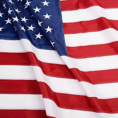 EverStrong 2 ft. x 3 ft. American US Heavy-Duty Nylon Flags Embroidered Stars and Sewn Stripes USA with Brass Grommets