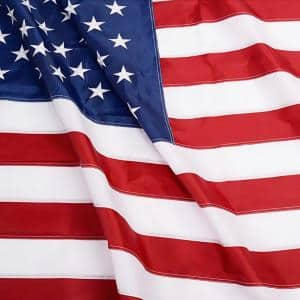EverStrong 4 ft. x 6 ft. American US Heavy-Duty Nylon Flags Embroidered Stars and Sewn Stripes USA with Brass Grommets