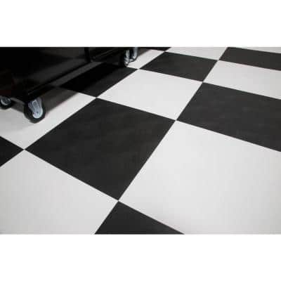 RaceDay Levant Absolute White 24 in. x 24 in. Peel and Stick Polyvinyl Tile (40 sq. ft. / case)