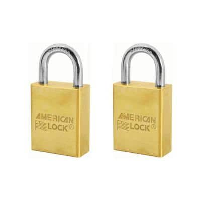 1-9/16 in. Solid Brass Padlock (2-Pack)