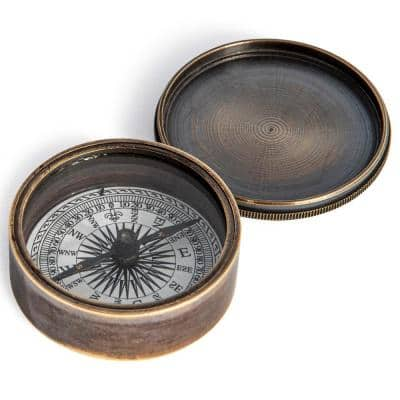Joy Victorian Pocket Compass in Highly Polished