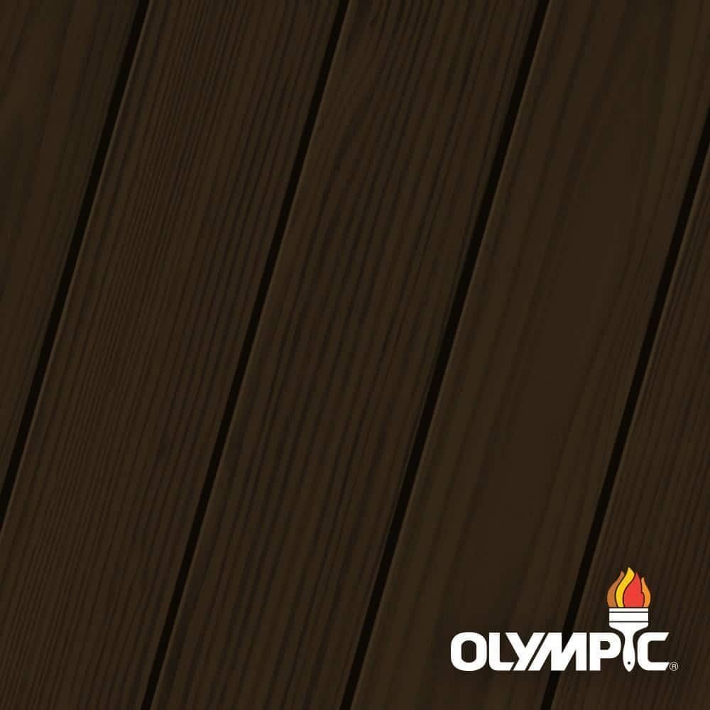 Olympic Elite 1-gal. Dark Bark ESS6 Semi-Solid Exterior Stain and Sealant in One Low VOC
