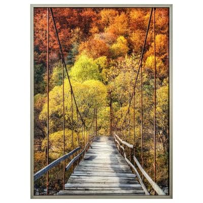 """""""Woodlands"""" Polysynthetic Frame Photography Wall Art 41.4 in. x 31.2 in."""