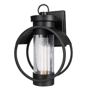 Balvin 1-Light Black Outdoor Wall Lantern Sconce