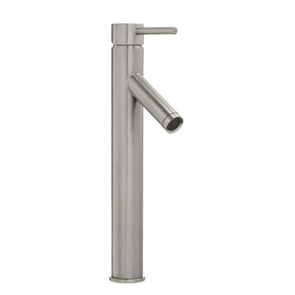 Glacier Bay Modern Single Hole Single Handle Vessel Bathroom Faucet In Brushed Nickel With Drain Hd67818w 6104 The Home Depot
