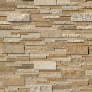 Casa Blend 3D Ledger Panel 6 in. x 24 in. Multi Finish Natural Quartzite Wall Tile (6 sq. ft./Case)