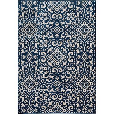 Patio Brights McBee Blue 5 ft. x 7 ft. 3 in. Indoor/Outdoor Area Rug