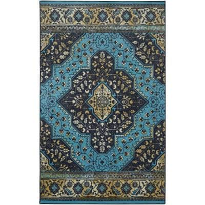 Rhine Navy 8 ft. x 10 ft. Indoor Area Rug