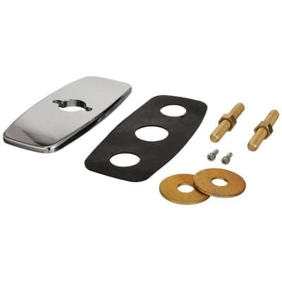4 in Chrome Plated Metal Cover Plate Assembly for Z861, Z863 and Z825 with Mounting Hardware