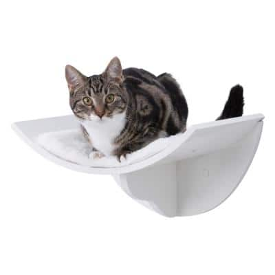 Small to Medium White Wall Mount Cat Bed