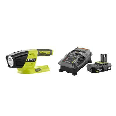 18-Volt ONE+ Lithium-Ion Cordless LED Light with 2.0 Ah Battery and Charger Kit