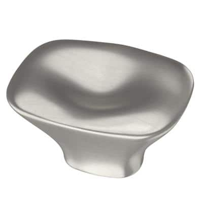 Pillowed Square 1-9/16 in. (39 mm) Satin Nickel Cabinet Knob