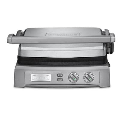Deluxe Griddler 240 sq. in. Stainless Steel Indoor Grill with Lid