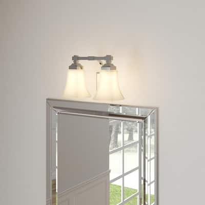 2-Light Chrome Bath Light