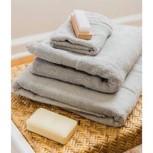 Luxury 8-Piece Grey Solid Bath Towel Set