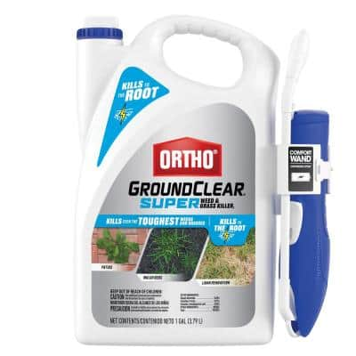 Groundclear Super 1 Gal. Ready-to-Use Weed and Grass Killer with Battery-Powered Wand