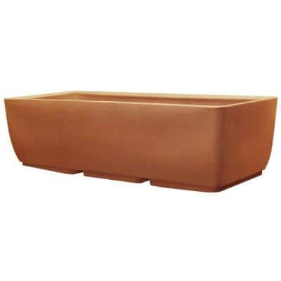 36 in. x 15 in. Terra Cotta Plastic Window Boxes & Troughs