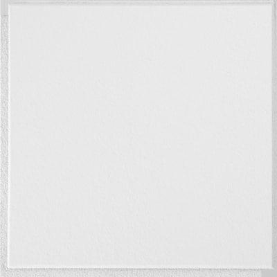 1 ft. x 1 ft. Clip Up or Glue Up Fiberboard Ceiling Tile in White (2 sq. ft./case)