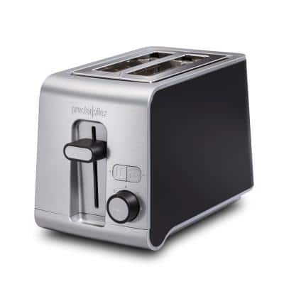 850-Watt 2-Slice Black and Stainless Toaster with Sure Toast Technology