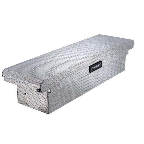 Husky 12.12 Diamond Plate Aluminum Full Size Crossbed Truck Tool