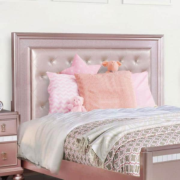 William S Home Furnishing Ariston Pink, Pink Upholstered Bed Frame