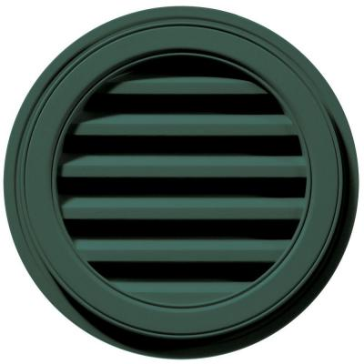 18 in. x 18 in. Round Green Plastic Weather Resistant Gable Louver Vent