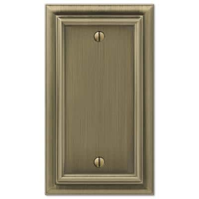 Continental 1 Gang Blank Metal Wall Plate - Brushed Brass