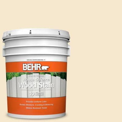 5 gal. White Solid House and Fence Exterior Wood Stain