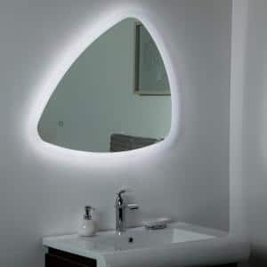 25 in. W x 31 in. H Frameless Novelty/Specialty LED Light Bathroom Vanity Mirror in Silver