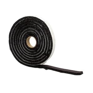 1/2 in. x 10 ft. Black Sponge Rubber Foam Weatherstrip Tape