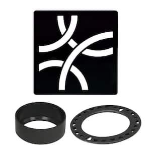 Kerdi-Drain 4 in. Matte Black Curve Drain Grate