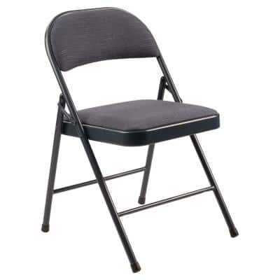 900 Star Trail Blue Fabric Padded Metal Frame Folding Chair (4-Pack)