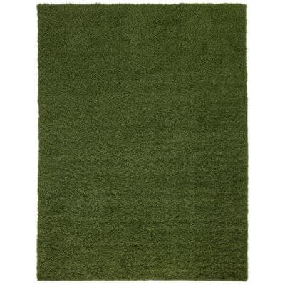 Soft Fescue 6 ft. x 8 ft. Green Artificial Grass Area Rug